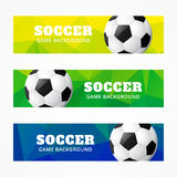 Set of football headers Stock Images