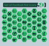 Set of football icons Stock Photos
