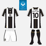 Set of football jersey, soccer kit. Football apparel mock up. Vector Stock Images