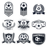 Set of the  football labels, emblems and design elements. Soccer Royalty Free Stock Image
