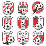 Set of football logos. Stock Image
