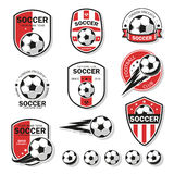 Set of football logos. Stock Photos