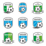 Set of football logos. Royalty Free Stock Image