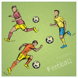 Set Football players Royalty Free Stock Photo