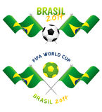 Set of Football Signs. ForWorld Cup Brazil 2014 Royalty Free Stock Images