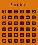 Set of football simple icons Stock Images