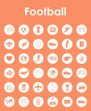 Set of football simple icons Stock Photos