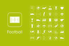 Set of football simple icons Royalty Free Stock Photos
