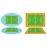Set Of Football Soccer Fields Isolated Stock Photos