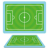 Set Of Football Soccer Fields Isolated Royalty Free Stock Photo