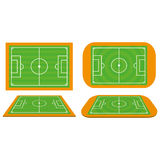 Set Of Football Soccer Fields Isolated Royalty Free Stock Images