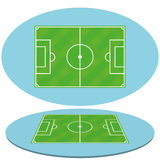 Set Of Football Soccer Fields Isolated Stock Image