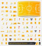 Set of football stickers Stock Photography
