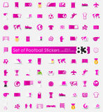 Set of football stickers Royalty Free Stock Photos