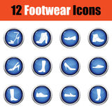 Set of footwear icons. Stock Image