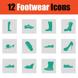Set of footwear icons Royalty Free Stock Photos