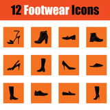 Set of footwear icons Royalty Free Stock Photo