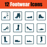 Set of footwear icons Royalty Free Stock Photography