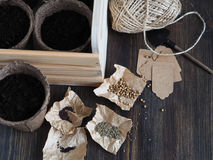 Set For Planting Seeds Royalty Free Stock Images