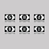 Set of foreign banknotes Royalty Free Stock Photo