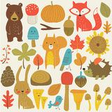 Set of forest animals Stock Photo