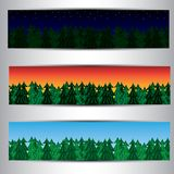 Set of forest banners Royalty Free Stock Photography