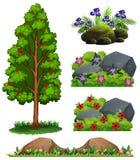 A Set of Forest Element stock illustration