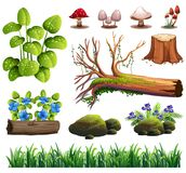 A Set of Forest Element royalty free illustration