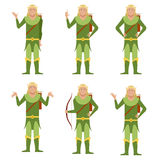 Set of Forest Fantasy Elves Royalty Free Stock Photos