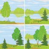 Set forest landscapes Stock Images