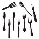 Set fork Royalty Free Stock Photo