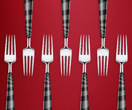 Set of forks Royalty Free Stock Photo