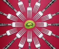 Set of forks Royalty Free Stock Photos