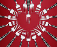 Set of forks Stock Photo