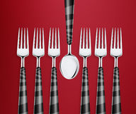 Set of forks Royalty Free Stock Image