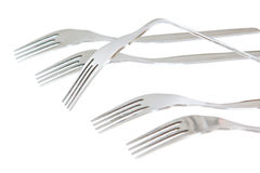 A set of forks in the conceptual solution. Royalty Free Stock Image