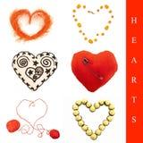 set former för hjärta Arkivfoto