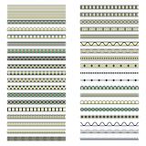 Set of forty ethnic decorative elements design Stock Photography