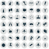 Set of forty nine sport icons. Universal sports icons set for web ans mobile design Royalty Free Stock Image