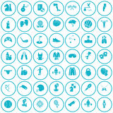 Set of forty nine sport icons. Universal sports icons set for web and mobile design Royalty Free Stock Photography