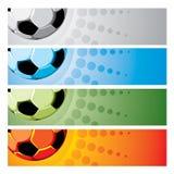 set fotboll för bakgrund Royaltyfri Bild