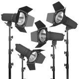 Set fotograficzny błysk lub światło reflektorów obraz royalty free