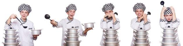 Set fotografie z śmiesznym kucharzem Zdjęcie Stock