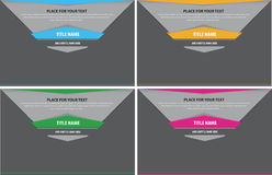 Set of four abstract background for text. With tabs Stock Photography