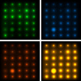 Set of four abstract backgrounds with shiny lights Stock Images