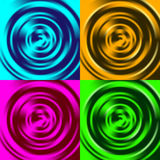 Set of four abstract backgrounds with waves. Vector illustration Royalty Free Stock Images