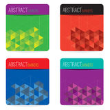Set Of Four Abstract Banners Stock Images
