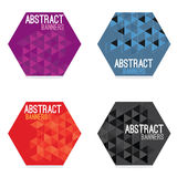 Set Of Four Abstract Banners Royalty Free Stock Photos