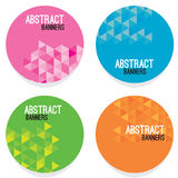 Set Of Four Abstract Banners Stock Photography