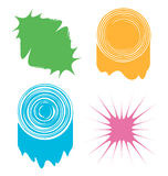 Set of four abstract colored blots Royalty Free Stock Images